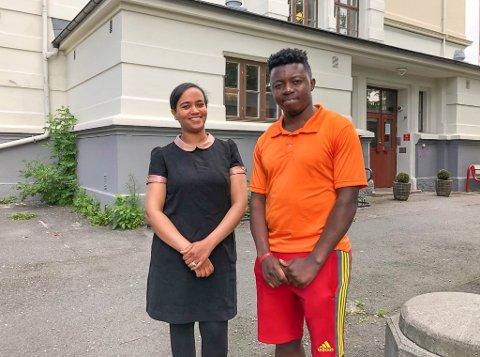 INNSATS: Takket være egeninnsats og hjelp fra lærerne på Moss Voksenopplæring, har Semhar Ghebrehiwet Nemariam og Mombamungo nådd målene sine.