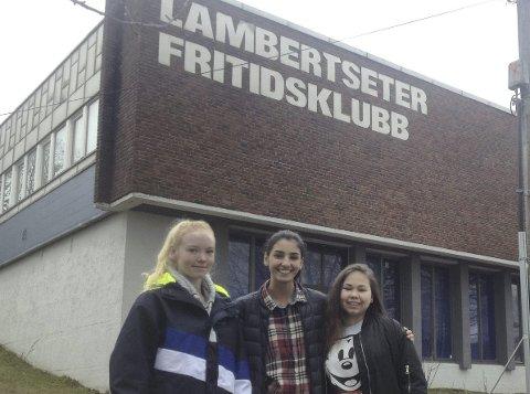 VANT: Natalie. T Hauger, Amanda Svennes og Alexandra Shammut gikk videre til fylkesfinalen i UKM.SFoto: Geir Bjarne Listhaug