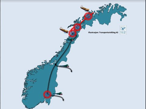 SLIK ØNSKER DE DET. Havnene i nord jobber for mer godstransport til sjøs - og en ny Nord-Norgelinje.