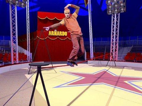 Akrobatikk: Christer Pettersen og Arnardo har akkurat hatt premiere i Arendal.