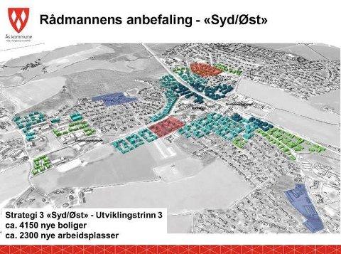 FREMTIDENS SENTRUM: Ås kommune har mottatt over 70 innspill til sentrumsplanen som har vært på høring.