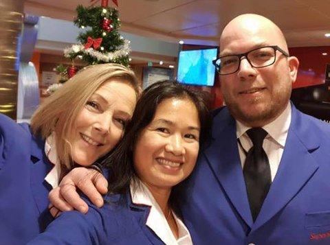 De ansatte på SuperSpeed har hatt en intern konkurranse. Fra venstre Trine Bruvoll, Maibel Dinardi og Andre Nilsen. De to siste var initiativtakere til aksjonen.
