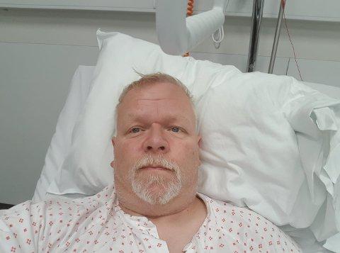 PÅ SYKEHUS: Mandag er Roar Skar innlagt på Lillehammer sykehus for krystallsyke. Han håper han kan komme hjem i morgen.