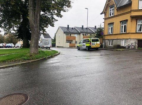 Politiet lette i Fridtjofs gate. (Alle bilder: Vetle Granath Magelssen)