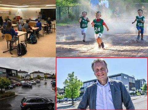 JUBLER: Ordfører Saxe Frøshaug (Sp) jubler over at kommunen nå skal ruste opp skole, torg og stadionanlegget i bygda.