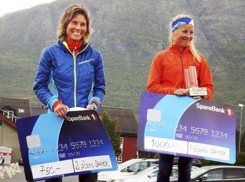 Malene Haukøy (til høyre) vant foran Gunn Sande Holtan.