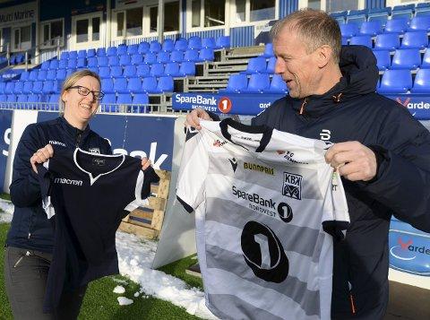 Støttespiller: Liv Berit Bach og KBK er svært glad for at Hans Mellemsæther og Sparebank 1 Nordvest støtter damelaget.