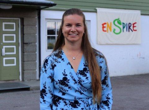 YNGST? Hun er blitt rektor på Vestlandet, 28-årige Marie Stensholt fra Tønsberg. Det sies at hun er landets yngste rektor,