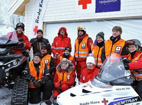 Nybygg: Arbeidet med å bygge og innrede det nye Røde Kors-huset i Ryfoss har pågått i godt over ett år. Her fra en samling sist vinter.