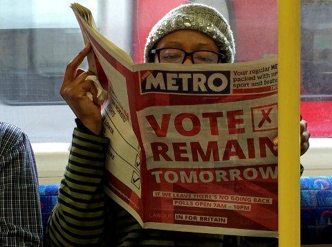 Britene skal torsdag avgjøre om de blir værende i EU.