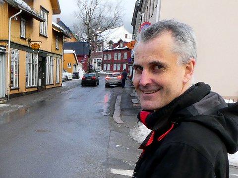 Sindre Sandberg, leder i Frogn Næringsråd, er glad sluttstrek er satt for områdeplanen for gamle Drøbak.
