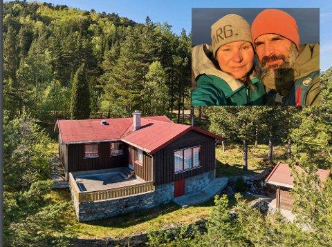 Drømmehytta: Jessica og Andreas har lett lenge etter den riktige hytta.