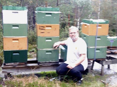 Nesten honning-gull til Svein Ivars primabier  fra Gjerstad, han tok en flott 2. plass under NM i honning.
