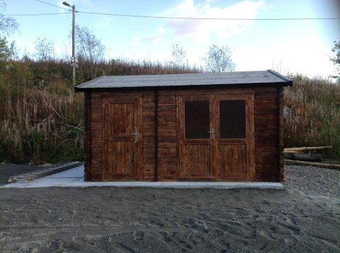 HYTTE: Heskestad IL har investert penger i å få bygd ei hytte.