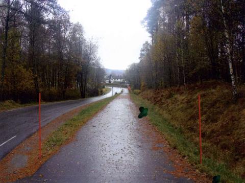 FORSLAG: Her ser vi området, med inntegnet forslag for hvor Reppen mener det bør stå gatelys.