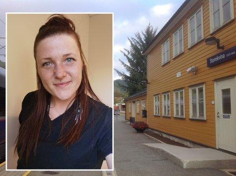 – DETTE ER VIKTIG: Mali Renate Skruen har engasjert seg for å løfte frem tilbringertjenesten til Storekvina stasjon. Hun mener det vil være et stort tap om tjenesten legges ned.