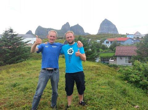 I 2012 padla Audun og Erlend frå Frekhaug til Træna, nokså nøyaktig 1000 km.