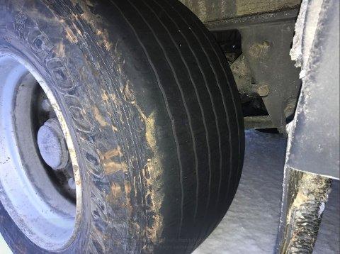 Sommerdekk: Slik var tralla skodd på vinterføret i Nord-Norge.
