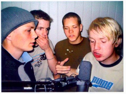 Fire ungdommer som er hektet på hip-hop. Fra venstre: Jonas Garden, Øystein Egge, Magnus Hillestad, Andreas Holberg.