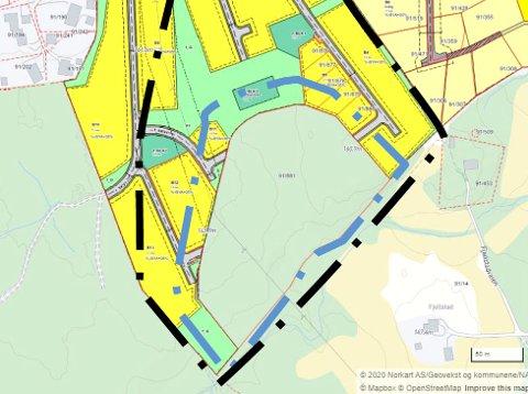 Planområdet Råkenåsen II ligger sør for utbyggingsområdet Råkenåsen i Ytre Enebakk. Her kan det bli bygget 30 boenheter.