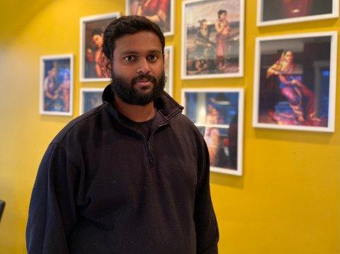 KLAR: Dinesh på The Arima er klar for å ta i mot gjester i restauranten.