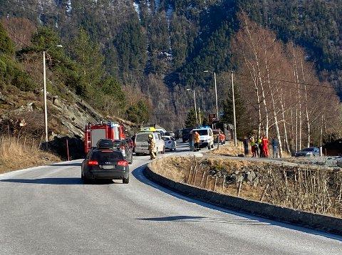 PÅKØYRSEL: Onsdag ettermiddag blei det meldt om ein påkøyrsel bakfrå, i Nornessvingane i Sogndal.
