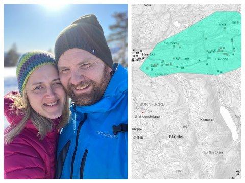 FÅR FIBER: Marie Neset (33) og Andreas Neset (39) bur i Instedalen i Naustdal. No skal kommunen bygge ut breibandsnettet.