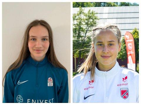 I TOPPEN: Maia Lindesteg Øen (t.v.) og Mina Bell Folland.