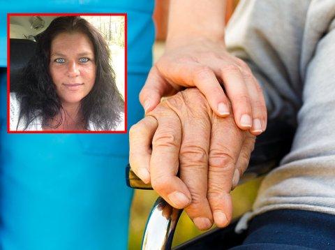 Stort press: Anita Nordtug (41) var irritert og lei etter hun kom hjem fra jobb i går. På Facebook fortalte hun at mange pasienter ble sittende og vente fordi hun hadde alt for mye å gjøre.