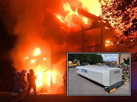 STORE FLAMMER: Natt til lørdag rykket brannvesenet ut til en brann i Holmestrand.