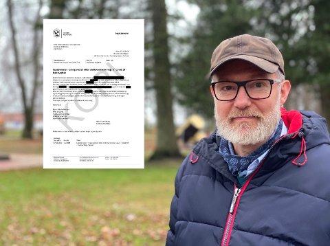 SJELDEN: For andre gang siden pandemien rammet, har kommuneoverlege Niels Kirkhus måttet ty til tvang for å få en person testet.