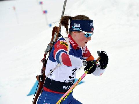 Sigrid Bilstad Neraasen hadde håp om en ny NM-medalje på jakstarten, men endte på sjuendeplass med tre starfferunder.