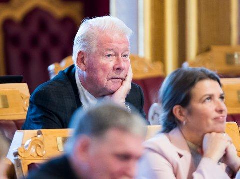 Carl I Hagen (FrP), her under trontaledebatten i oktober 2019, har blitt foreslått til førsteplassen i Oppland FrP til valget i 2021. Foto: Terje Pedersen / NTB scanpix