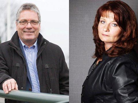 ENIGE: Høyres og ordfører Thor Edquist er enig med Arbeiderpartiet ved Kirsti Brække Myrli. Arkiv. Montasje.