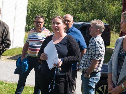 Nav-leiar Ingvild Sperrevik orienterte heradsstyret om Nav og vaksenopplæringa sine planar for asylmottakstomta.