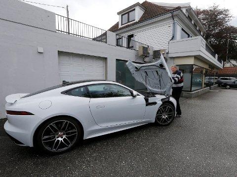 Denne Jaguaren av typen F er 2018-modell.