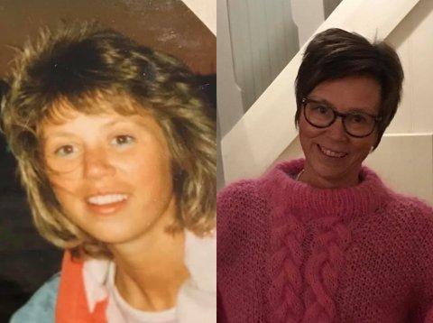 DA OG NÅ: Turid Dalen i 1987 og 2020.