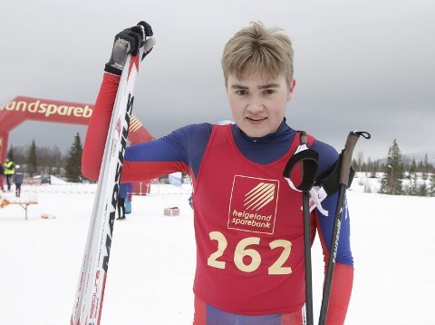 KM på ski Sjåmoen fristil. Arrangør Mosjøen IL Ski. Ole Jakob Forsmo, Halsøy vant med god margin og ble kretsmester M19/20