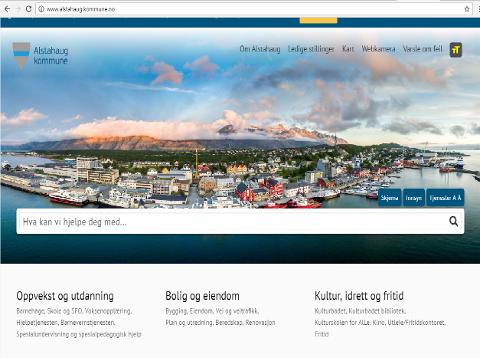 FORNYING: Slik framstår Alstahaug kommune nå på nett.