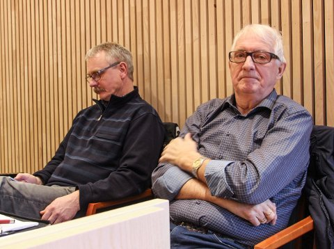 Jostein Arntsen (t.v.) og Kåre Johan Åsli var begge til stede i retten tirsdag.