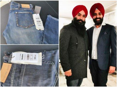 HAR FLERE IDEER: Dersom ingen kjøper varelageret i sin helhet, har kompisene Jagjit pal Singh (t.v) og Sarbjit Singh flere tanker om hvordan de kan kvitte seg med den enorme mengden klær.