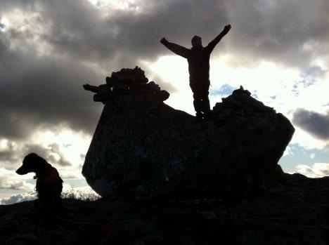 Et leserbilde tatt av Høna på Vegglifjell i 2011. Dette er et turmål i helgen.