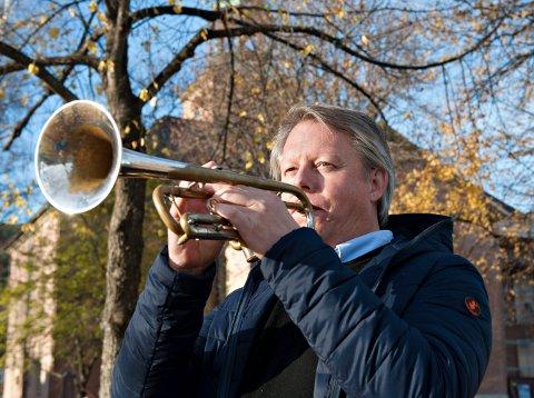 TROMPETIST: Ole Edvard Antonsen har spilt i Kongsberg kirke en rekke ganger. Lørdag blir han å høre i musikkteatret.