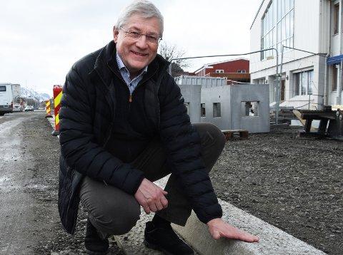 Leder for Storgata-prosjektet på Leknes, Eivind Edvardsen, i rådgivningsselskapet Wsp Norge AS.