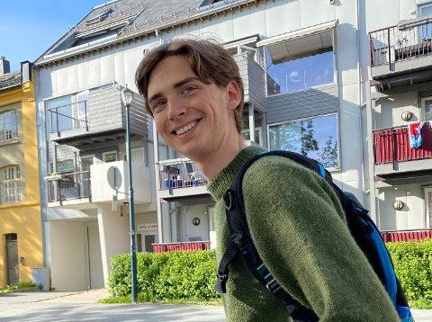 Kristian Løvland (24) kommer fra en liten gård ved Holøsåsen. Nå gjør han suksess i Trondheim.