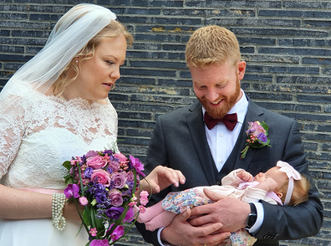 Lene Ottesen og mannen Øystein Wæhle giftet seg i sommer. De fikk også datteren Johanne Ottesen Wæhle