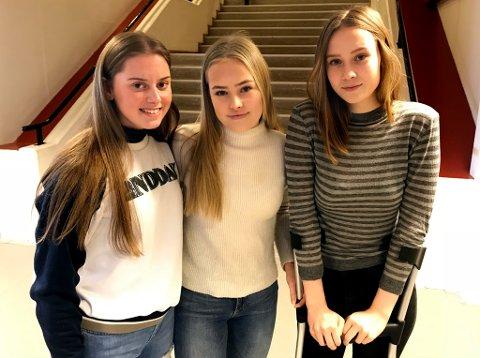 UHELDIGE LAGVENNINNER: Sara Skaue (t.v.), Hedda K. Lysnes og Johanne Kjørstad har spilt på samme lag i mange år for Tromsø Håndballklubb. Denne sesongen har alle tre pådratt seg alvorlige korsbåndsskader, som er en økende trend spesielt blant unge jenter.