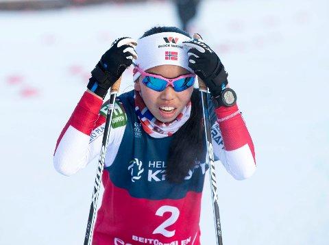Thea Minyan Bjørseth under kombinert menn  på åpningshelga i langrenn på Beitostølen.