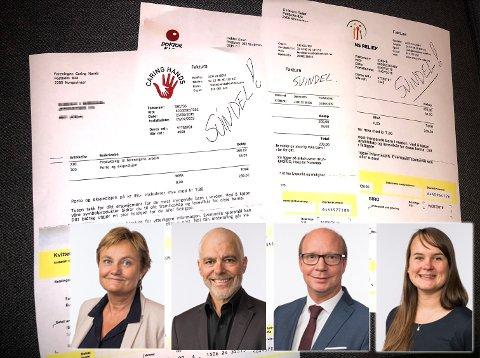 STRAMME INN: Stortingsrepresentantene (f.v.) Rigmor Aasrud (Ap), Petter Eide (SV), Ketil Kjenseth (V) og Marit Knutsdatter Strand (Sp) mener det burde bli strengere å drive innsamlingsarbeid.