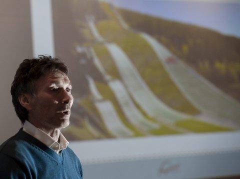 MÅ VENTE: Fageråsbakkene AS ved styreleder Trond Jøran Pedersen, får ikke penger fra kommunen før hele prosjektet er fullfinansiert. Foto: Øyvind Bratt